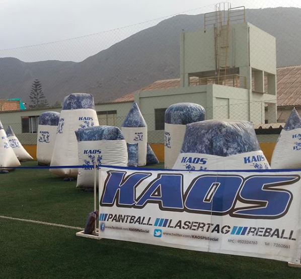 group of Kaos inflatables in Lima, Peru